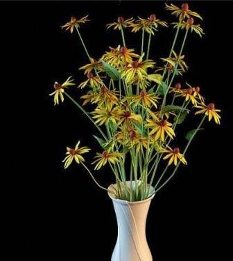 Ruukkukasvien keltaiset kukat