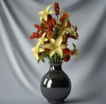 Kasvien Bonsai keltainen kukka
