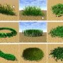 Zahradní krajina tráva
