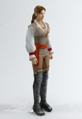 Foreign Woman Character 3d Max Model