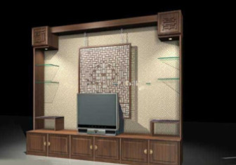 Asean Traditional Tv Background 3d Max Model Free