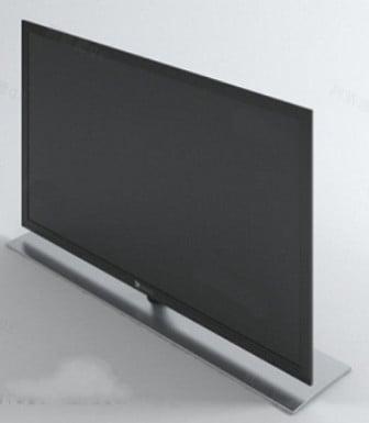 Black Lcd Monitor 3d Max Model Free