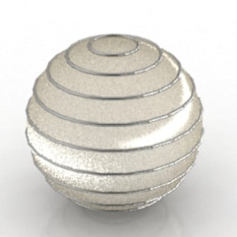 Shiny Round Lamp 3d Max Model Free