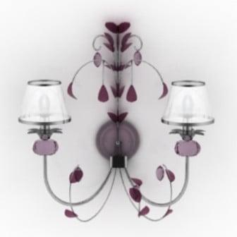 Purple Elegant Bedside Lamp 3d Max Model Free