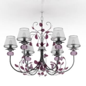 Violet Style Chandelier 3d Max Model Free