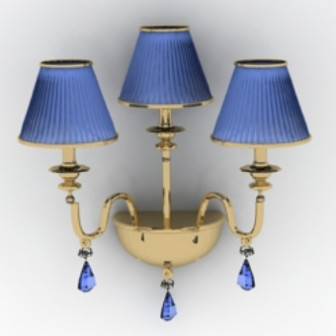 Blue Elegant Wall Lamp 3d Max Model Free