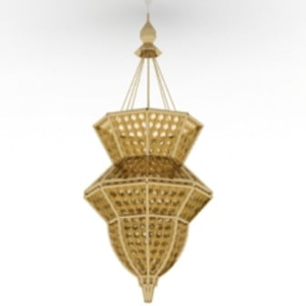 Bamboo Chandelier 3d Max Model Free