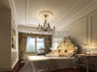 Scene European Luxury Bedroom Interior