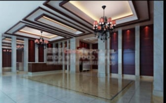 Hotellin aulan sisustuskohtaus