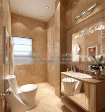 Hotel bathroom interior 3d max model free 3ds max free for Bathroom design 3d model