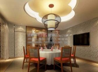 Restaurant vip room interior design 3d max model free 3ds for Vip room interior design