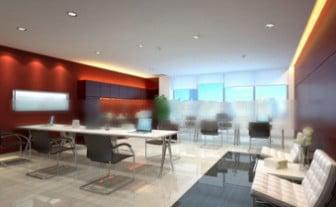 Corporate Office Design Interior Scene