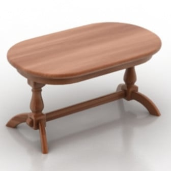 Wooden Table Furniture 3d Max Model Free