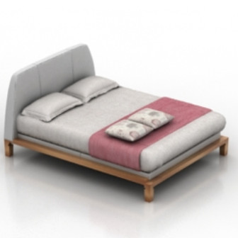 White Twin Bed 3d Max Model Free