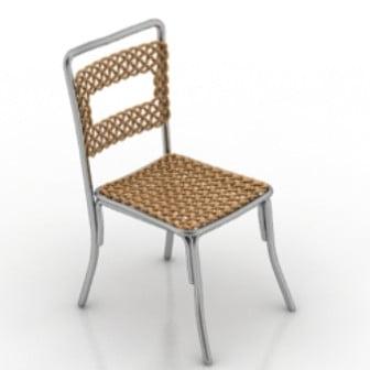 Gold Rattan Chair Furniture 3d Max Model Free