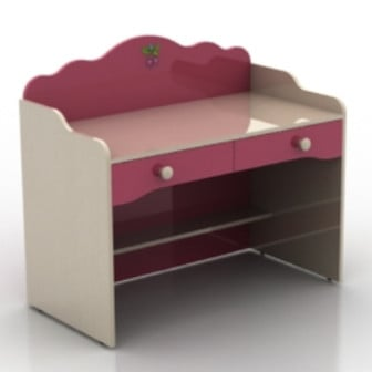 Children Desk Furniture 3d Max Model Free