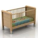 Wooden Crib 3d Max Model