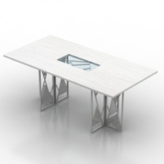White Table Furniture 3d Max Model Free