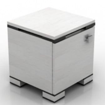 3d Max Model Bedside Cabinet