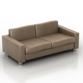 Simple Brown Sofa 3d Max Model Free