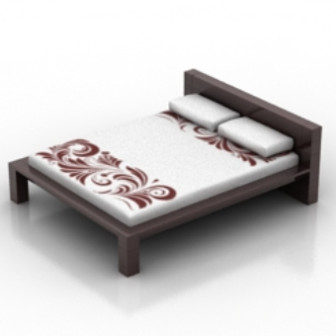 Modern Wedding Bed 3d Max Model Free