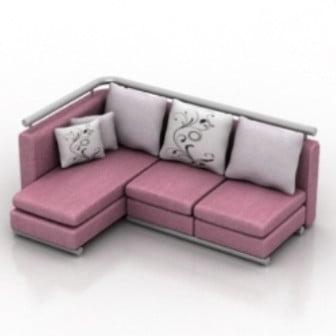 Multi Seat L Sofa Max Model Free