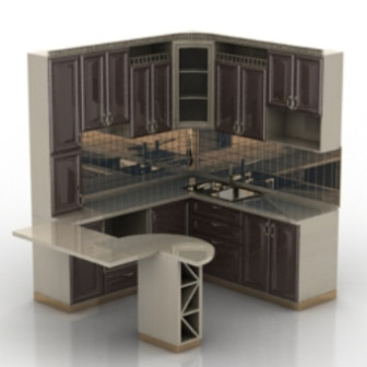 European Kitchen Cabinet Design 3d Max Model Free