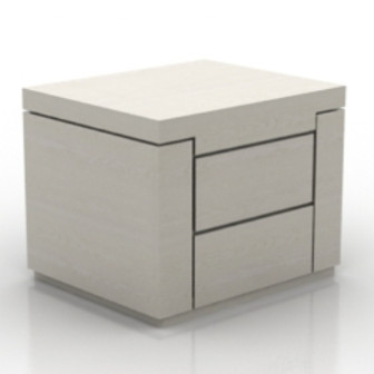 Simple White Bedside Cabinet 3d Max Model Free