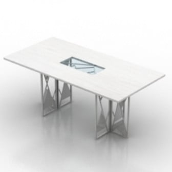 White Creative Office Desk 3d Max Model Free