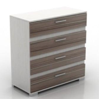 Textured Wooden Cabinet