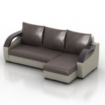 Leather Sofa Multi Seating 3d Max Model Free