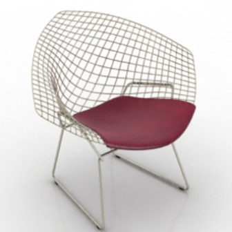Red Single Wire Chair 3d Max Model Free