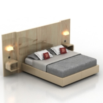 Deluxe Double Bed 3d Max Model Free