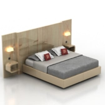 Deluxe Double Bed 3d Max Model Free 3ds Max Free Download