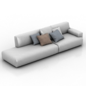 White Couch 3d Max Model Free