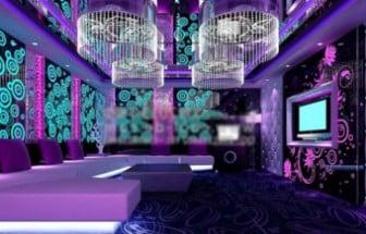 Purple Ktv Luxury Box 3d Max Model Free