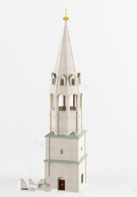 3d Max Model Free White Noble Church