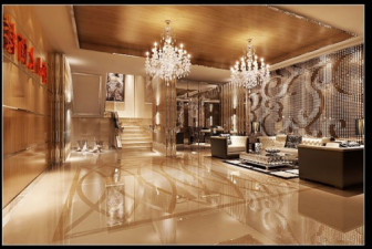 Mannerhotellin aulan sisustusnäkymä
