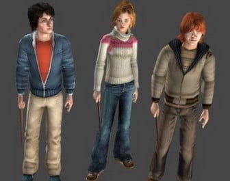 Character Harry Potter, Hermione, Ron
