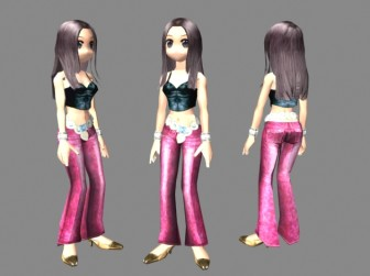 Beatuful Female Dancer Character 3d Max Model Free