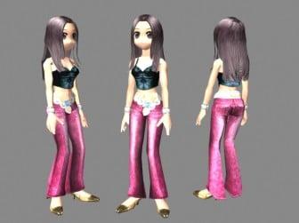 Beatuful Female Dancer Character 3d Max Model Free