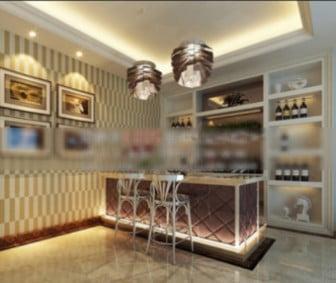 Wine Tasting Interior Scene