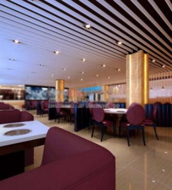 Hotel Restaurant Interior Scene