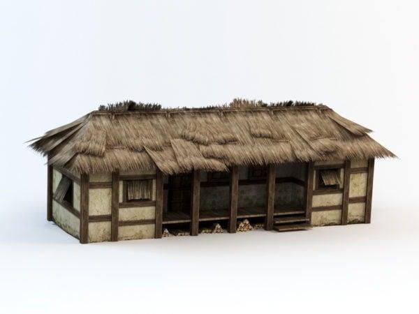 Casa popular con techo de paja