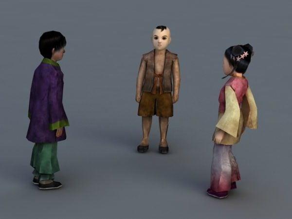 أطفال الريف الصيني التقليدي