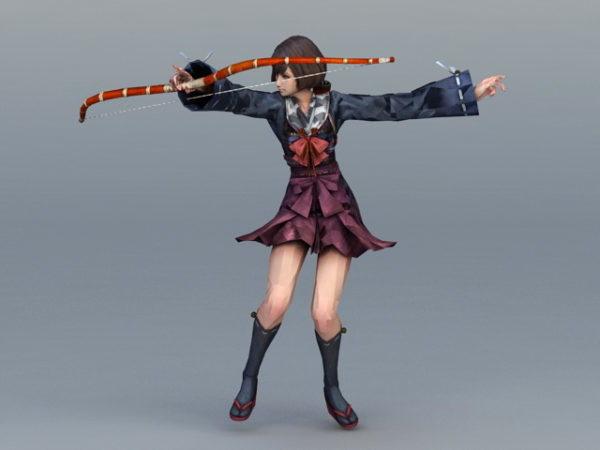 Nainen Samurai Jousimies
