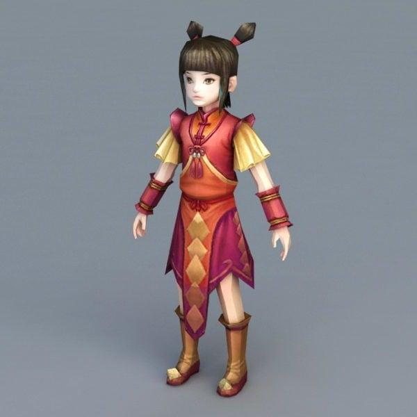 السنة الصينية الجديدة أنيمي فتاة