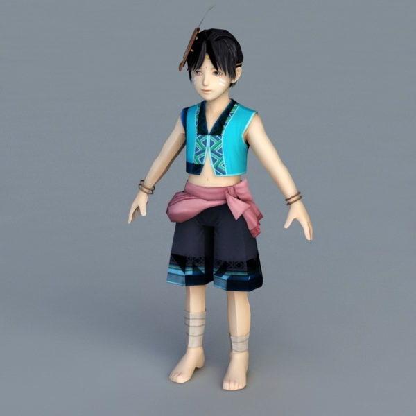 Niño chino tradicional