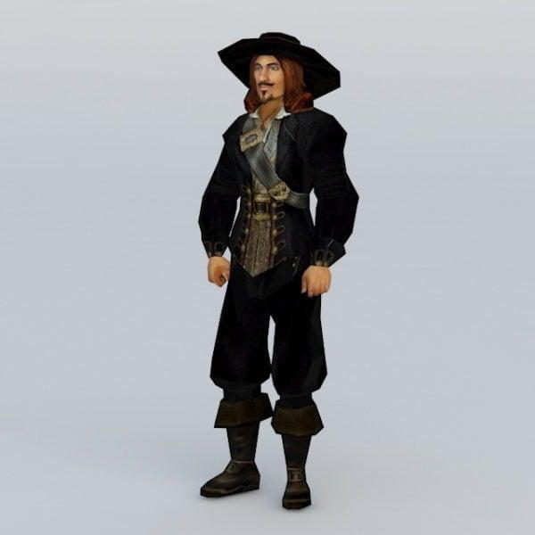 Capitán pirata medieval