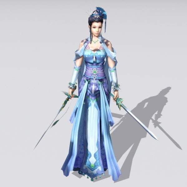 Figura femenina espadachina